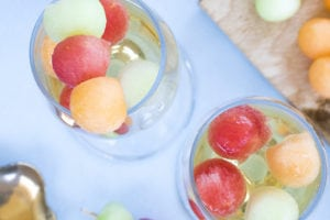 Melon Prosecco Cocktails