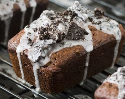 Mini Cookies and Cream Banana Bread Loaves
