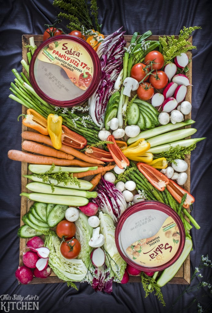 Ultimate Crudite Platter, healthy snacking options perfect for any party! from ThisSillyGirlsKitchen.com