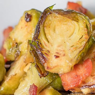 Roast Brussel Sprouts with Bacon