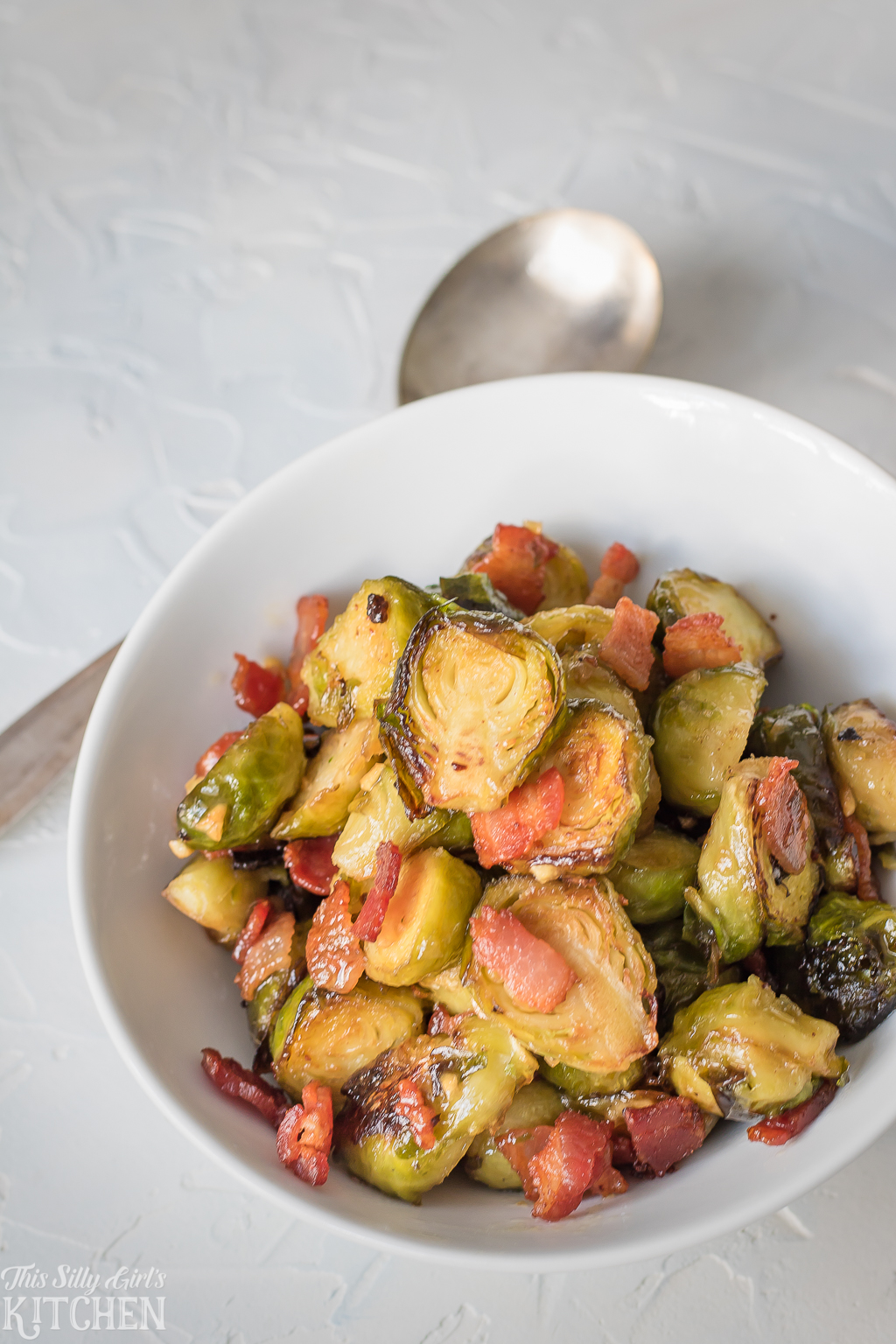 Bacon Roasted Brussel Sprouts - This Silly Girl's Kitchen
