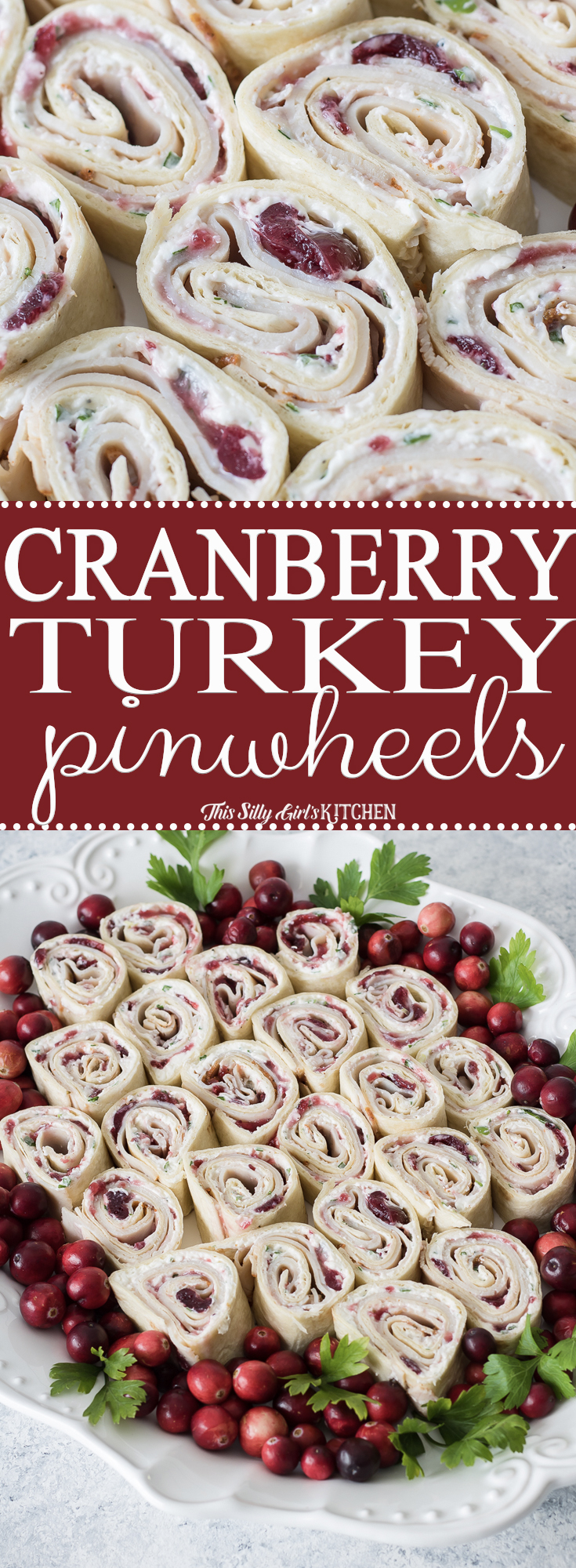 Cranberry Turkey Pinwheels Pinterest image