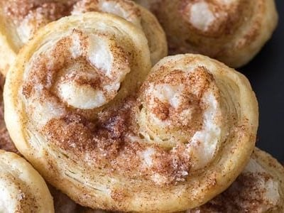 Cinnamon Cream Cheese Palmier Cookies