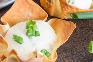 Baked Cream Cheese Wonton Cups