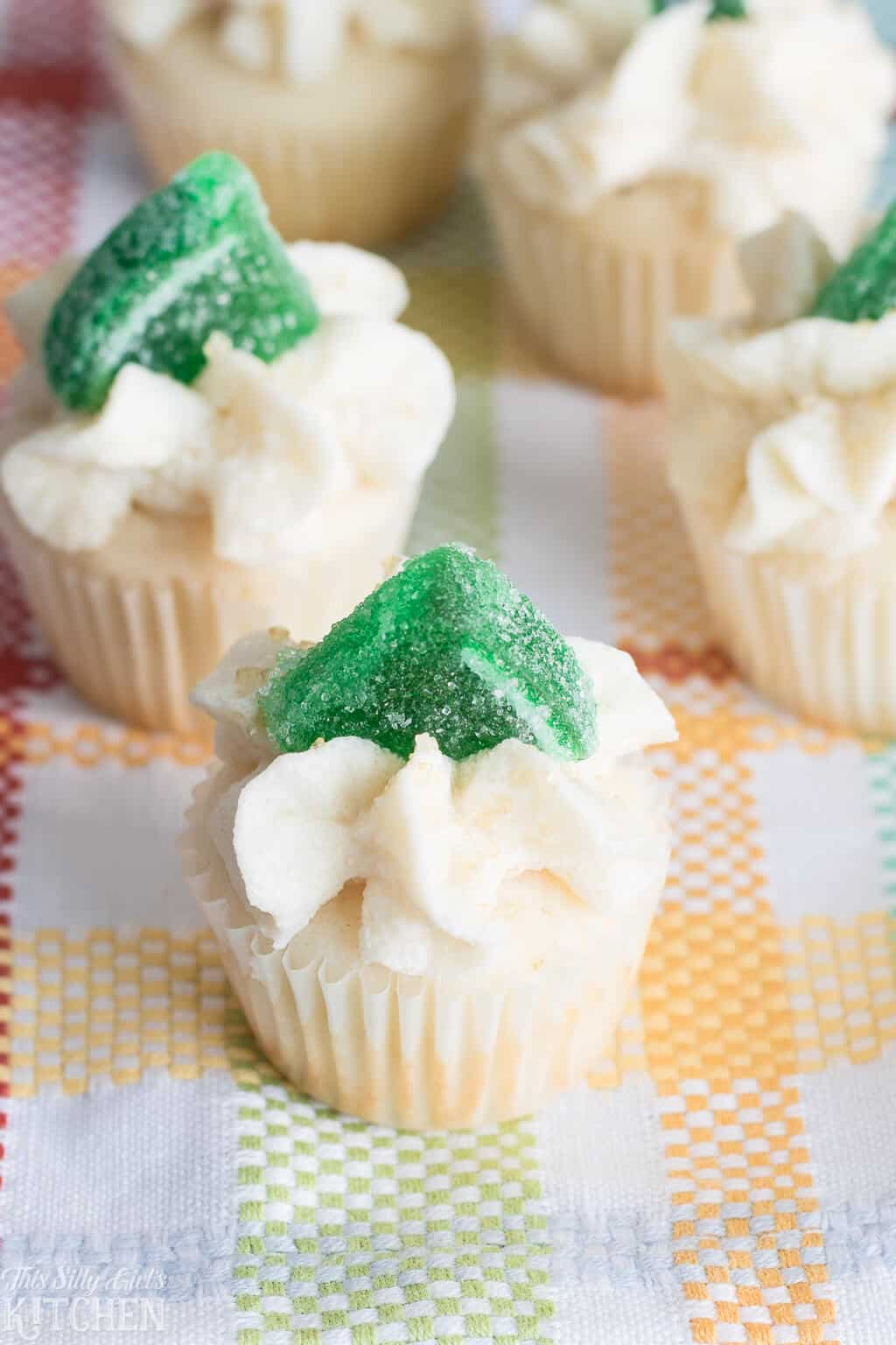 The Best Margarita Cupcakes, festive bite-sized cupcakes with margarita flavors! #Recipe from ThisSillyGirlsKitchen.com #cupcakes #margarita #margaritacupcakes
