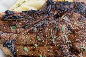 Grilled Rib Eye Steaks (The Best Steak Marinade!)