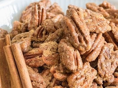Roasted Pecans with Cinnamon Sugar