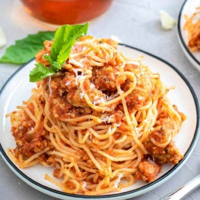 Easy Meat Sauce with Turkey