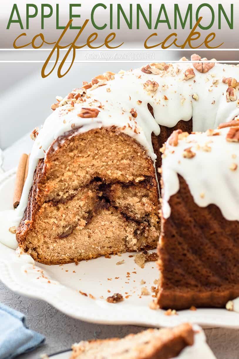 cinnamon swirl coffee cake close up