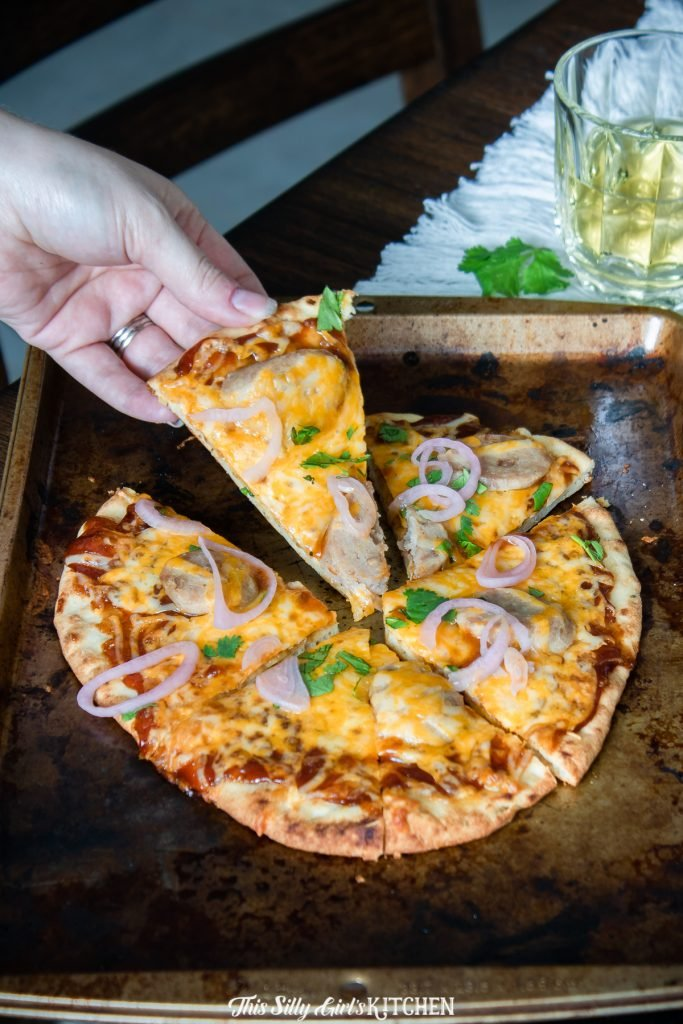 This BBQ Chicken Pizza is ready in under 10 minutes, that's right! The ultimate weeknight meal recipe.
