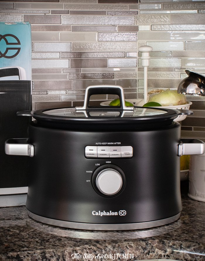 Close up of Slow Cooker on counter top