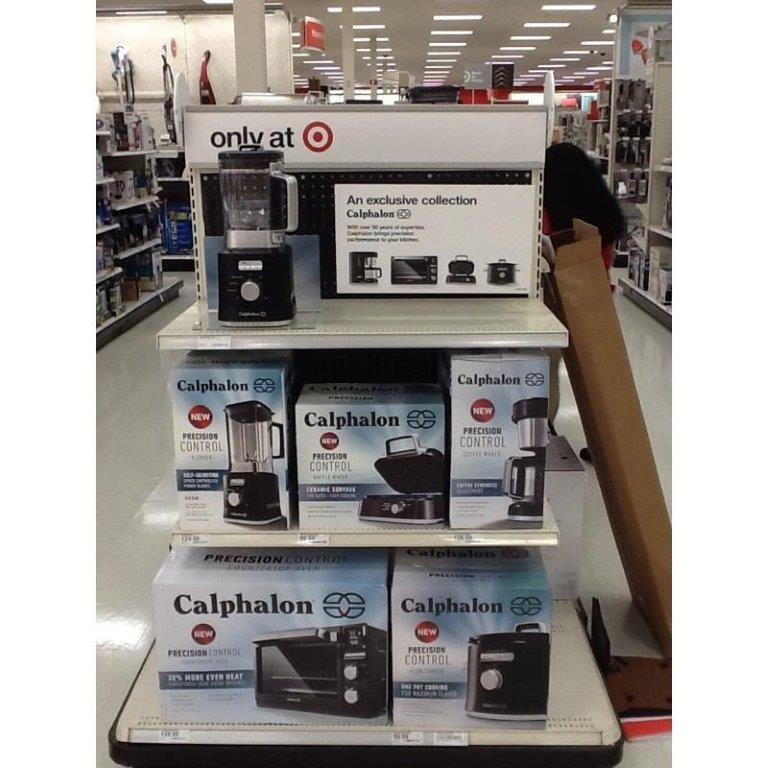 Shelf at target with Calphalon appliances