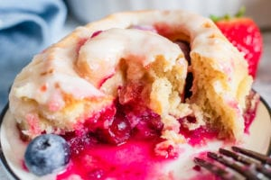 Lemon Berry Sweet Rolls