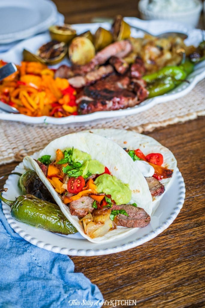 Carne Asada Ribeye Tacos #recipe from thissillygirlskitchen.com #tacos #ribeye #carneasada #steaktacos
