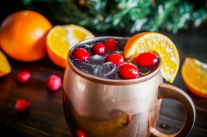 Cranberry Tangerine Lemonade Moscow Mule