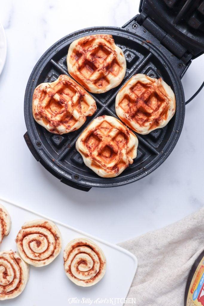 Waffles in waffle iron