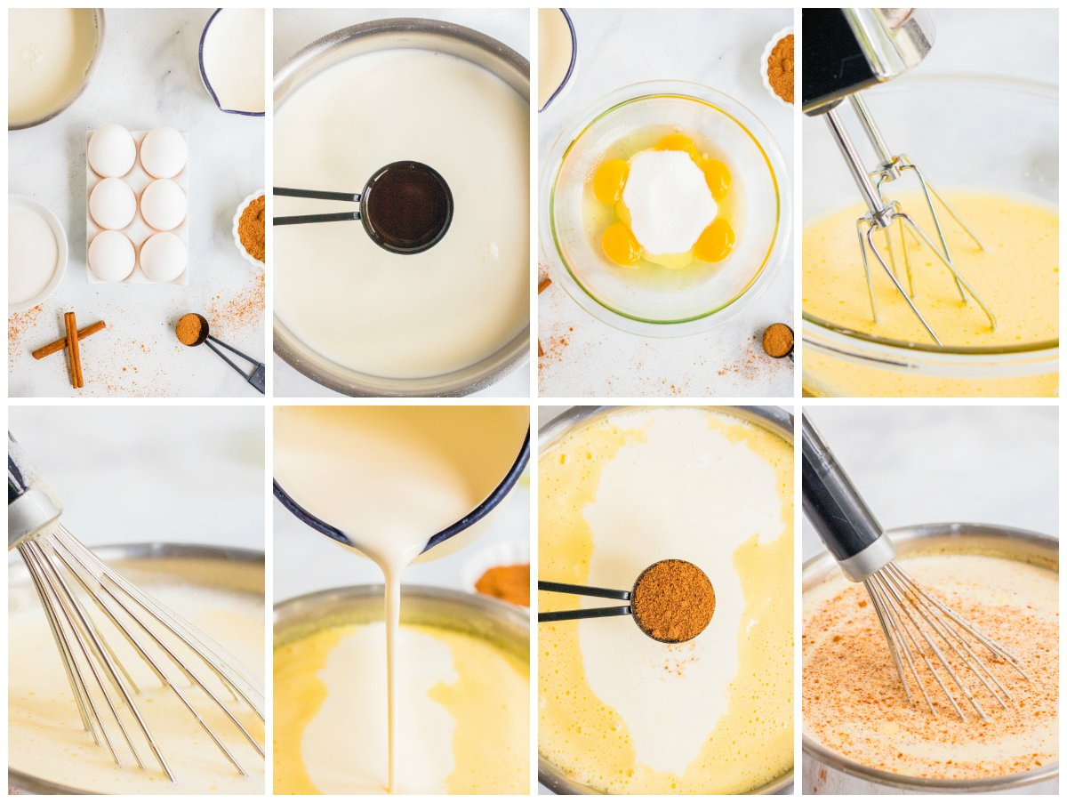 Step by step photos on how to make Classic Eggnog