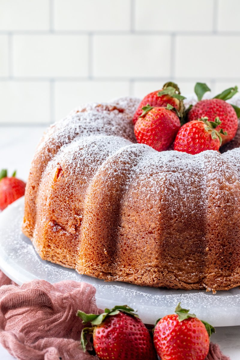Strawberry Cheesecake Bundt Cake by This Silly Girl's Kitchen - WEEKEND POTLUCK 468